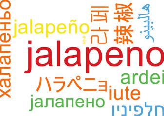 Jalapeno multilanguage wordcloud background concept