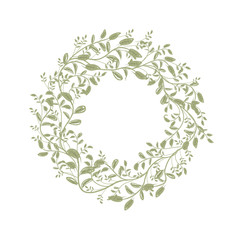 Leaf wreath sketch for your design