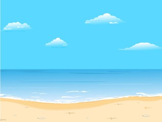 Beautiful summer background with beach