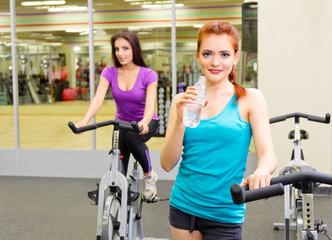 Girls in fitness club