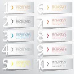 Abstract infographics number options template. Vector illustrati