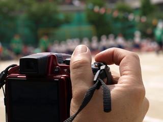 運動会の撮影