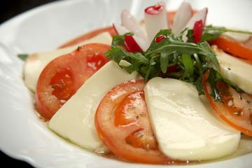 Caprese salad mozzarella tomato
