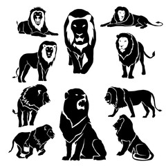 Lion Silhouette Pack