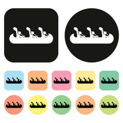 rowing icon. boat icon
