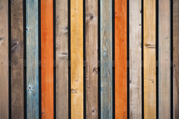 Multi colored shabby wood