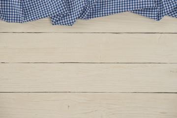 Holzhintergrund weiß mit Karomuster blau