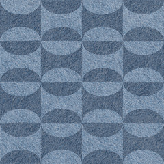 Abstract paneling pattern - seamless pattern - blue jeans cloth