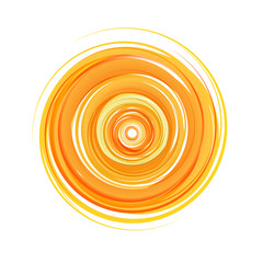Vector logo abstract sun