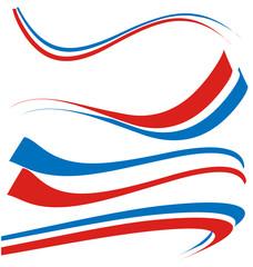 france flag set isolated on white