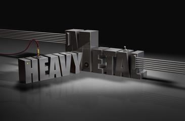 Fototapeta HEAVY METAL - Saite Typografie Schalter P obraz