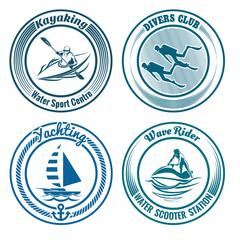 Water Sport Stamp set
