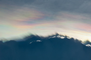 iridescent pileus cloud(colorful cloud)