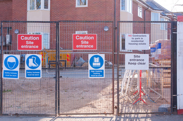 Site safety signs construction site