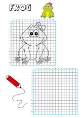 gioco disegna la rana
