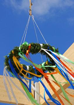 Richtfest, Richtkranz, Tradition beim Neubau, Deutschland