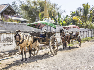 two horse carriages