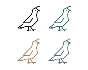Quail Bird Outline