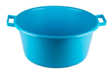 Blue empty plastic bowl