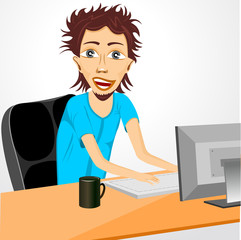 programmer working at computer