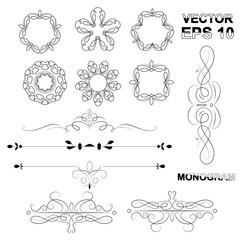 Elegant lineart logo design, Simple and graceful monogram design
