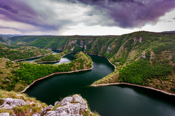 "Uvac River / Special Reserve of Nature ""canyon Uvac"", Serbia"