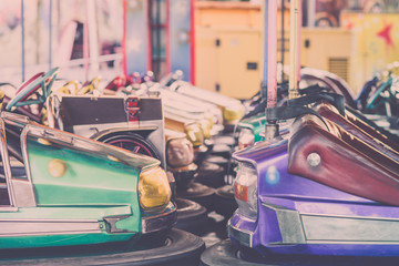 Bumper cars in the amusement park...