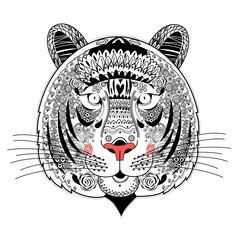Portrait of ornamental tiger