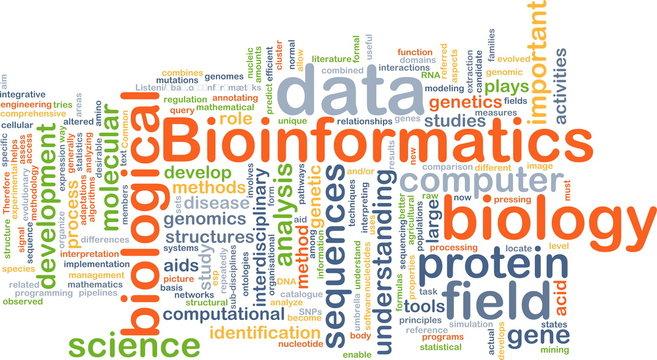 Bioinformatics background concept