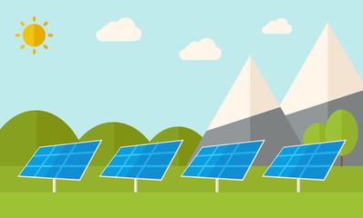 Four solar panels.