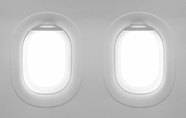 2 blank window plane