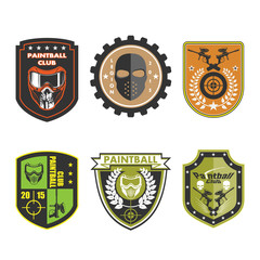 Paintball Team Logo Badge set