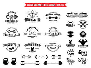 Sport and Fitness Logo Templates, Gym Logo and Design Elements
