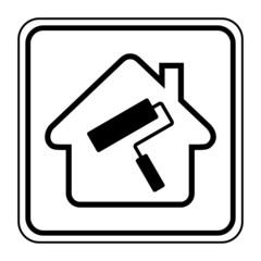 Logo maison et travaux.