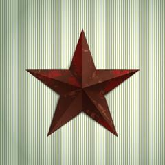 Grunge military metal star.