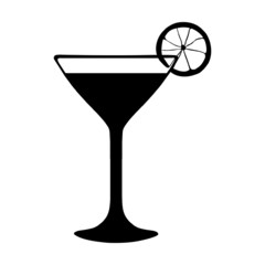 Vector Cocktail with Lime