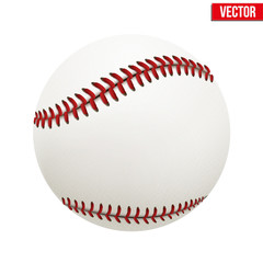 Vector illustration of baseball leather ball