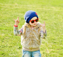 toddler girl rock out