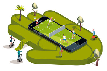 Tennis Court Booking In a Hand
