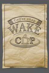 Grunge stamp with coffee cup , vector illustration