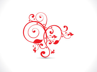 abstract artistic red floral heart