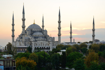 Istanbul. Blue Mosque at twilight