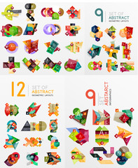Colorful abstract geometric layouts, mega collection