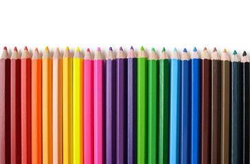 row of crayon