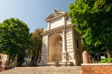Roma Trastevere Fontana dell' Acqua Paola