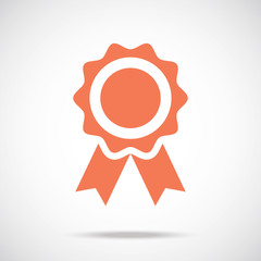Award pictograph. Medal icon concept. Creative vector icon.
