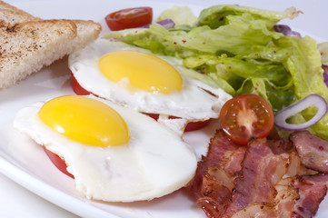 eggs with bacon