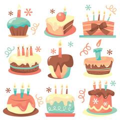 Retro Birthday Cakes