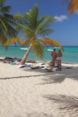 Beach at Caribbean sea. Isla Saona, La Romana, Dominicana