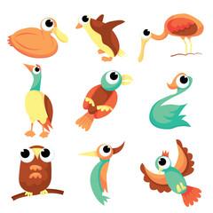 Cartoon Flock of Birds